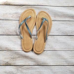**3 for $30**  Blue flip flops